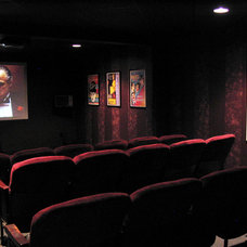 Traditional Home Theater by Advanced Homes of West Michigan