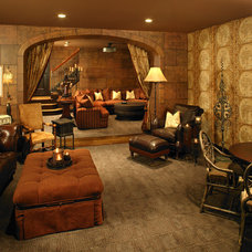 Home Theater by Dewson Construction Company