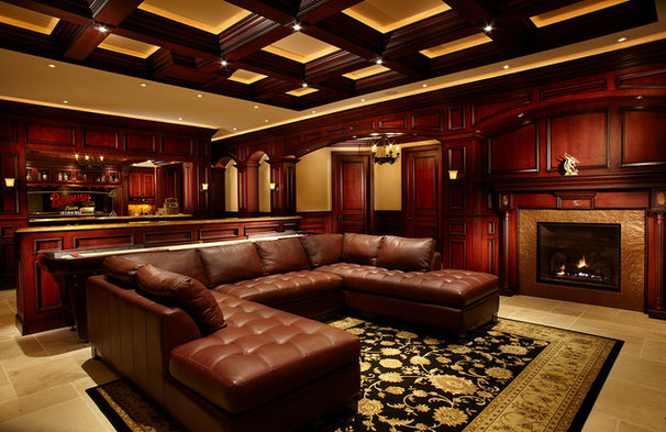 Traditional Home Theater by Wightman Construction, Inc.