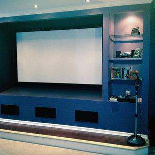 Immagine di un home theatre minimal