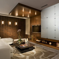 eclectic media room by Craig Denis
