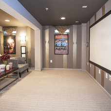 Traditional Home Theater by Haverford Homes
