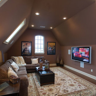 Elegant home theater photo in St Louis