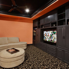 contemporary media room by Sterling Custom Homes