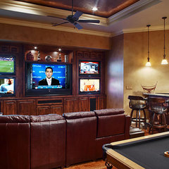 traditional media room by Sterling Custom Homes