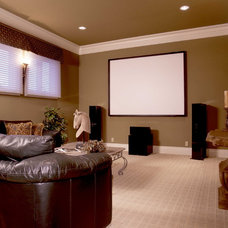 Home Theater by Sterling Custom Homes