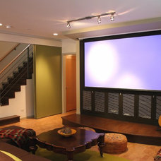 Modern Home Theater by Carr Warner, Architects