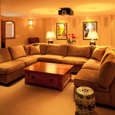 Contemporary Home Theater by Teton Heritage Builders