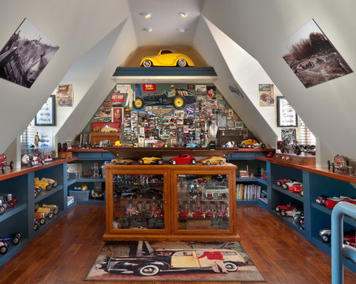 Attic Man Cave Home Design Ideas, Pictures, Remodel and Decor