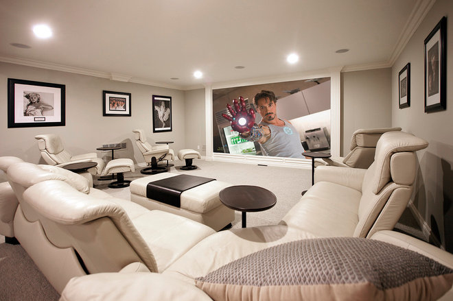 Contemporary Home Theater by Mars Photo and Design