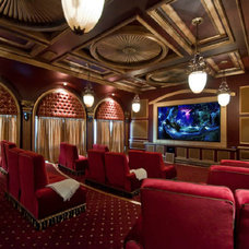 Mediterranean Home Theater by Jim Weinberg Lifestyles