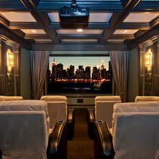 Traditional Home Theater by Studio KW Photography