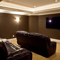 Traditional Home Theater by Total Living Construction