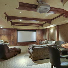 Traditional Home Theater by Conrado - Home Builders
