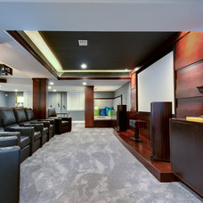 Contemporary Home Theater by Addison Design