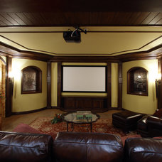 Traditional Home Theater by Hensley Custom Building Group