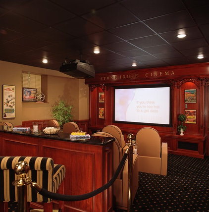 Traditional Home Theater by Bruce Palmer Interior Design
