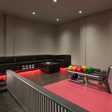 Modern Home Theater by Fusion Bowling