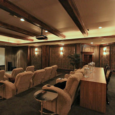 Modern Home Theater by Platinum Fine Homes & Estates