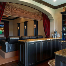 Traditional Home Theater by Niemann Interiors