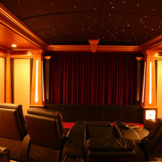 Traditional Home Theater by Paul Apkarian Architects, Inc.