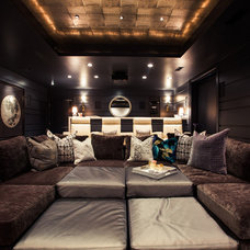 Contemporary Home Theater by Alice Lane Home Collection