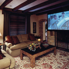 Traditional Home Theater by Pam Carroll Planning & Design