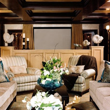 Traditional Home Theater by Reaume Construction & Design