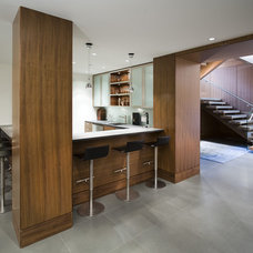 Contemporary Home Theater by Old World Kitchens & Custom Cabinets