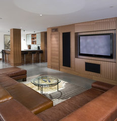 contemporary media room by Old World Kitchens & Custom Cabinets