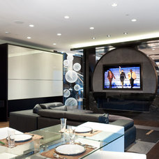 Contemporary Home Theater by blurrdMEDIA