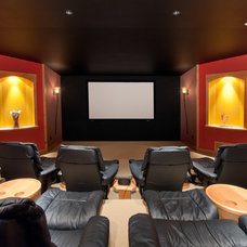 Traditional Home Theater by blurrdMEDIA