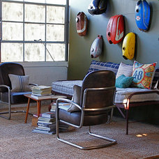 Eclectic Home Theater by red: modern lines . vintage finds