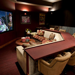 traditional media room by Tath Hossfeld Designs