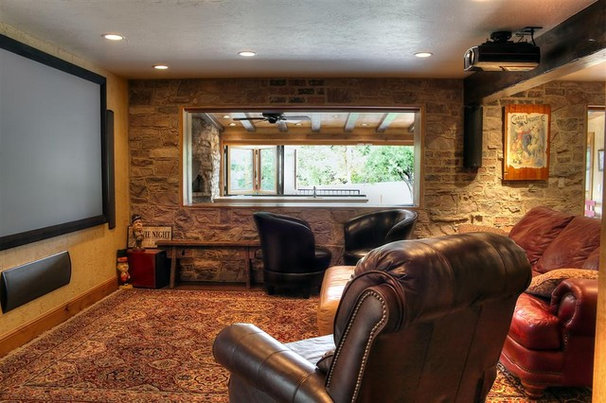 Traditional Home Theater by Renovation Design Group
