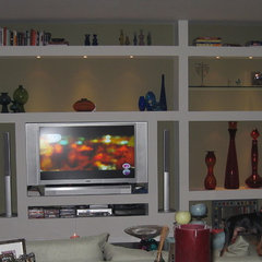 eclectic media room by X3D GROUP LLC