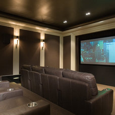 Contemporary Home Theater by CBC Architects, Inc.
