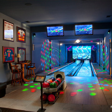 Residential Bowling Alley Lanes for Philadelphia Phillies Baseball Player's Home