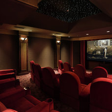 Eclectic Home Theater by Bernard Andre Photography