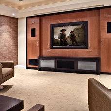 Modern Home Theater by Handwerk Interiors