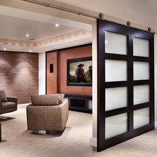 modern media room by Handwerk Interiors