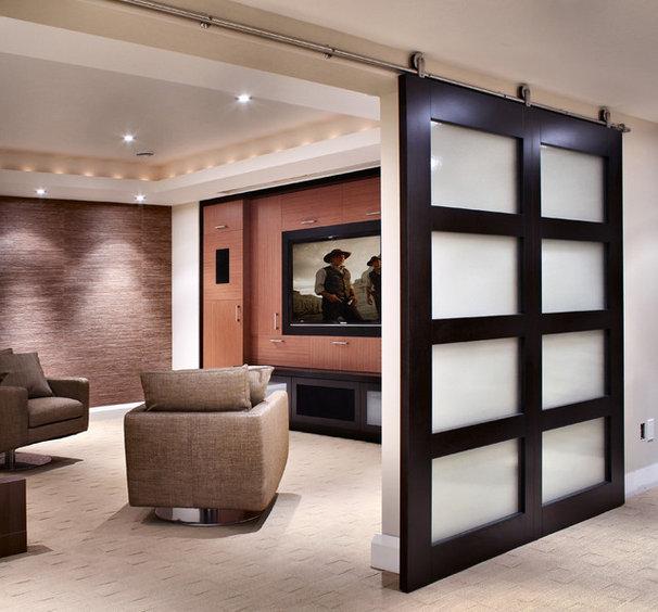 Modern Home Theater by Handwerk Interiors