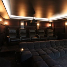 Modern Home Theater by Intainium Home Cinemas