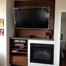 Modern Home Theater by Mike Strutt Design