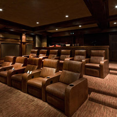 traditional media room by Phillips Development