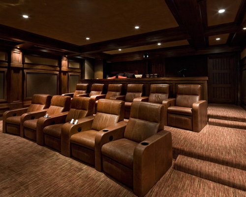 Media room furniture home design ideas pictures remodel for Theatre room furniture