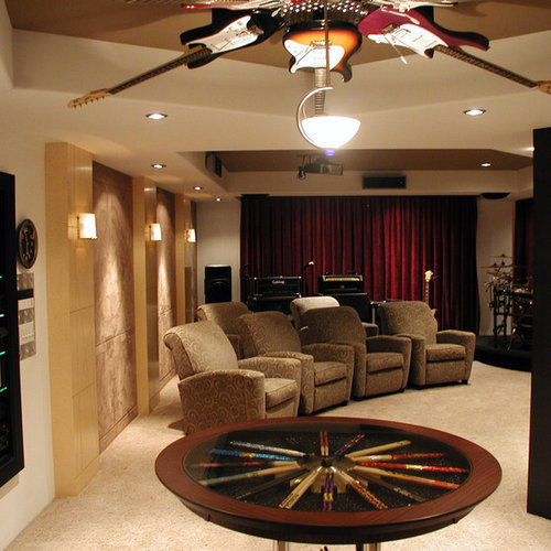 Beautiful Contemporary Home Theater Idea In Other