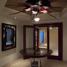 Contemporary Home Theater by Designtech Custom Interiors