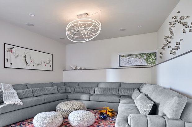 Contemporary Home Theater by Gingerwood