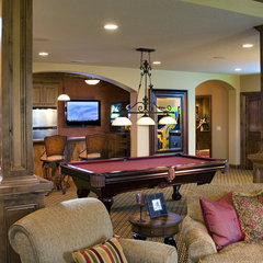 traditional media room by Kieran J. Liebl,  Royal Oaks Design, Inc. MN